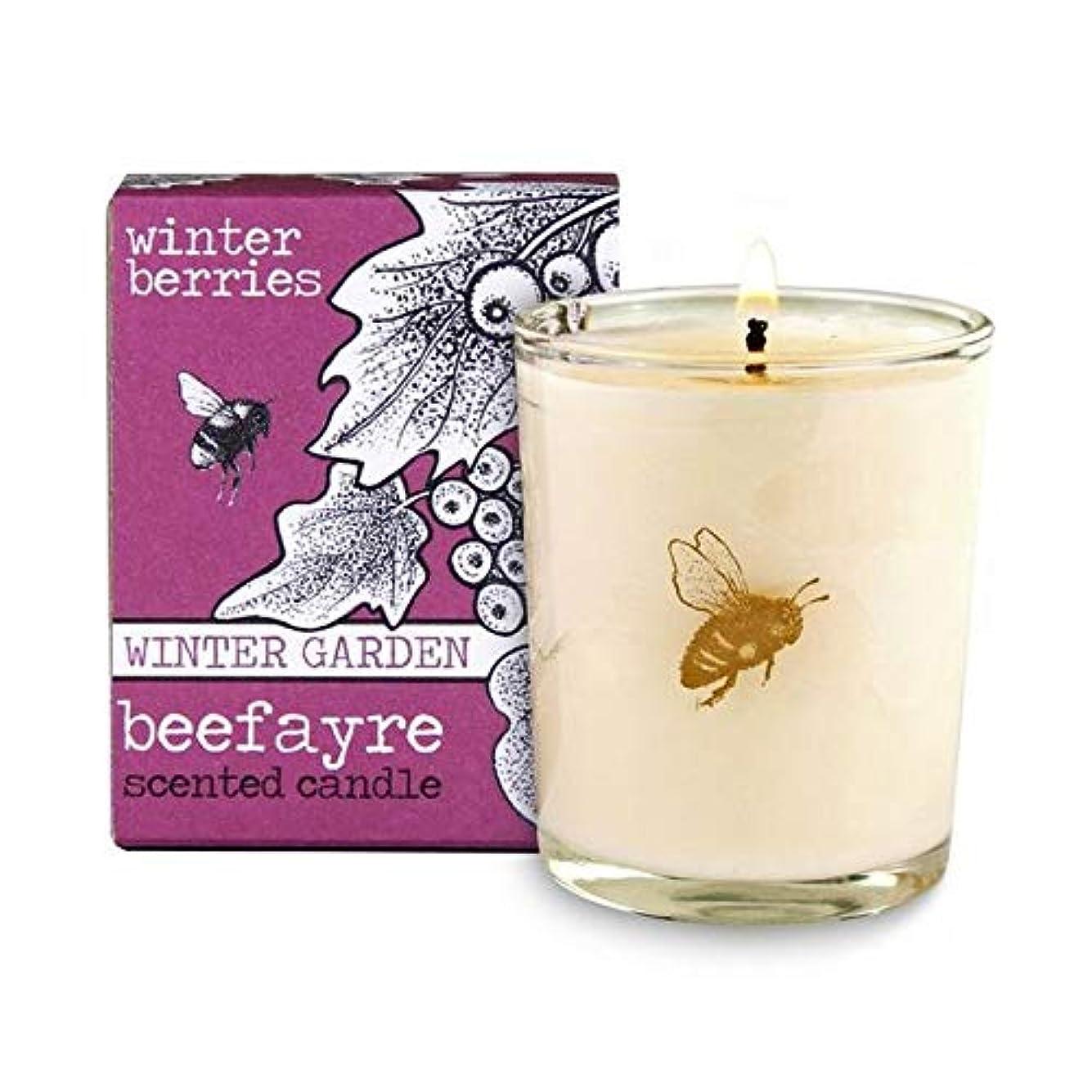 ジョリーインゲン泣き叫ぶ[Beefayre] Beefayre冬の果実小さな香りのキャンドル - Beefayre Winter Berries Small Scented Candle [並行輸入品]