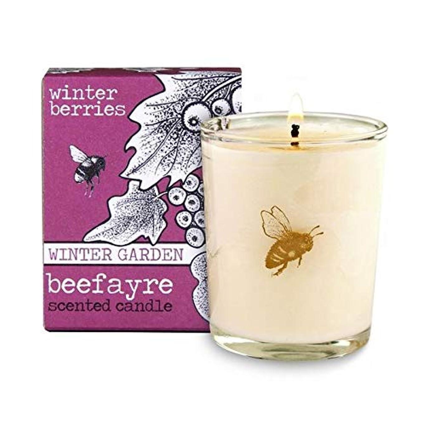 稼ぐアミューズメント輝く[Beefayre] Beefayre冬の果実小さな香りのキャンドル - Beefayre Winter Berries Small Scented Candle [並行輸入品]
