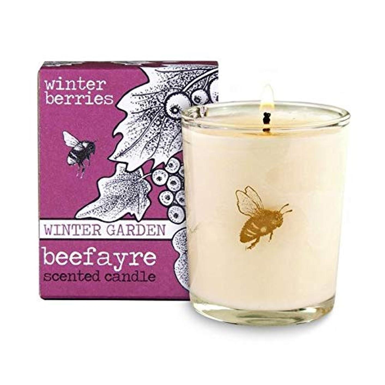 土器よろめくマインドフル[Beefayre] Beefayre冬の果実小さな香りのキャンドル - Beefayre Winter Berries Small Scented Candle [並行輸入品]