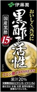 [旧品番] 伊藤園 黒酢で活性 (紙パック) 200ml×24本