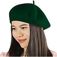 Acecharming French Beret, Lightweight Casual Classic Solid Color Wool Beret
