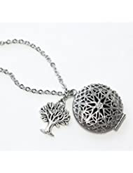 Tree Diffuser Necklace for Essential Oils 18 inches with felt pads [並行輸入品]