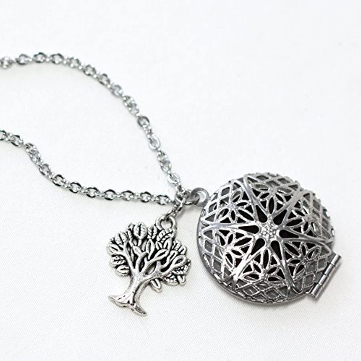 汚れる証明プラスTree Diffuser Necklace for Essential Oils 18 inches with felt pads [並行輸入品]