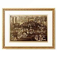 エドヴァルド・ムンク Edvard Munch 「Panik in Oslo, 1917.」 額装アート作品