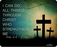 Phil 4: 13I Can Do All Things Through Christ Who Strengthens Meマウスパッドby Atomic市場