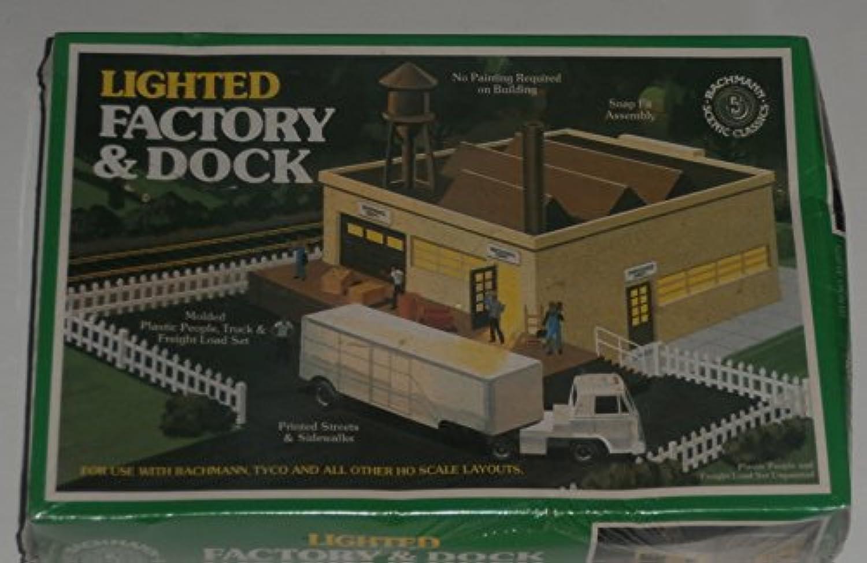 Bachmann HOスケールLighted工場とDock建物と風景キット