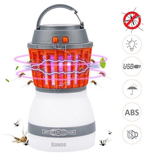 Bawoo LEDライト キャンプライト アウトドアライト 電撃殺虫器 蚊取り&照明両用 ベットライトランプ 防災用品 モバイルバッテリー usb充電 2200mAh  IP67 防水 3つ点灯モード