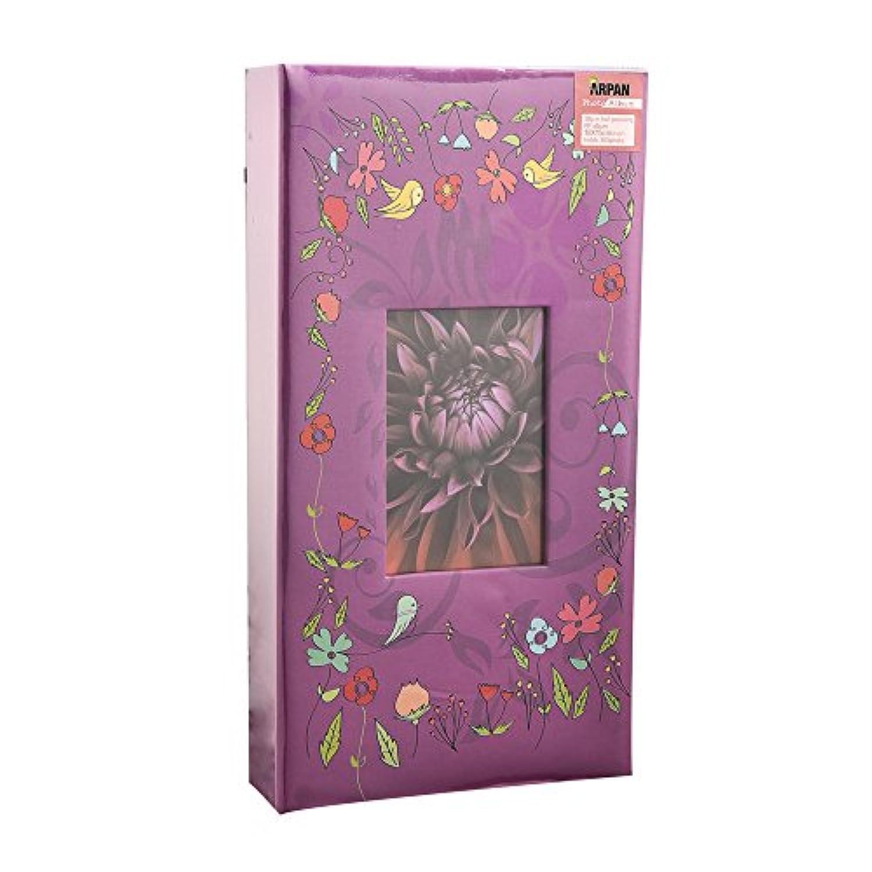 (Purple-birds) - Arpan 6x4 Designer Photo Album with 300 Pockets (Purple-Birds)