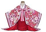 赤ちゃんの着物 JAPAN STYLEブランド 1歳女の子着物 「赤ピンク系、十二単風」JSK-G01