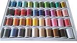 DEZAR 家庭用ミシン 刺繍用糸40色 120D