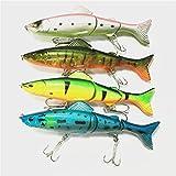 【ノーブランド品】01Z0F27 4魚/バッグ 釣具 17.7cm / 12.5g ビッグベイトベイトステンレス フック ルアー・フライ ハードルアー 定番カラー色