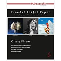 Hahnemuhle Baryta FB、明るいホワイト高光沢インクジェット用紙、350GSM、11x 17インチ、25シート