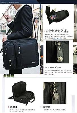 NUMANNI 3wayビジネスバッグ (リュック 手提げ ショルダー) アウトレット新品 PW356 ブラック