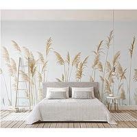 """パストラル壁紙ネイチャーリード写真の壁紙壁画3D、リビングルームの寝室カルタ自己接着ビニール/シルク壁紙_200cm(W) x 100cm(H) (6'7"""" x 3'3"""") ft"""