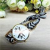 腕時計 時計 watch ウォッチ ミサンガ スターフェイス ジュエリー アクセサリー BK