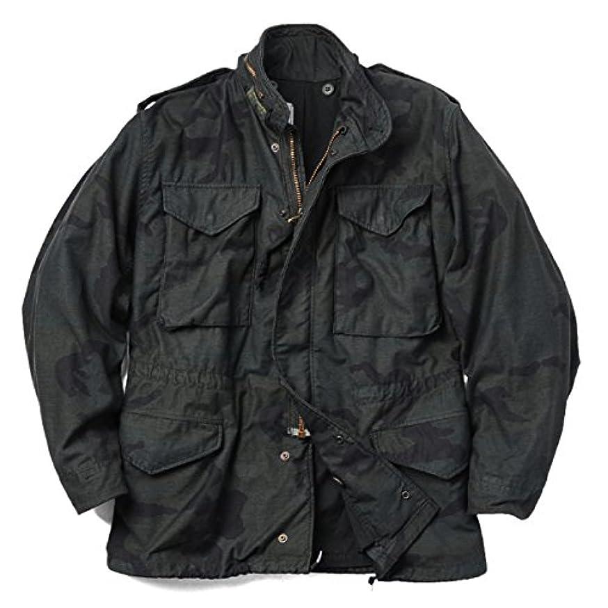 水没ガウン宗教実物 米軍 G.I. M-65 フィールドジャケット WOODLANDベース BLACK染め
