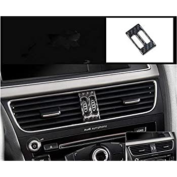 GZYF Real Carbon Fiber Interior Dashboard CD Panel Cover Trim Fits Audi A4 B8 A5 2008-2015