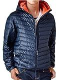 (アローナ)ARONA 超軽量ダウンジャケット 驚くほど軽くて暖かい メンズ 軽量 撥水 透湿/S BDネイビー×オレンジ 3L