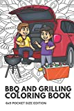 BBQ And Grilling Coloring Book 6x9 Pocket Size Edition: Color Book with Black White Art Work Against Mandala Designs to Inspire Mindfulness and Creativity. Great for Drawing, Doodling and Sketching.