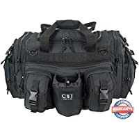 CJGEAR Mens Duffle Duffel 22 inch Outdoor Hiking Water Bottle Organizer Molle Tactical Shoulder Strap Bag