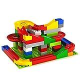 Liebeye ウォーキング ボール スロット ビルディング ブロック ギア ピンチ 子供 プラスチック製 おもちゃ 認知 ドミノ 知的 開発 クリスマス ギフト 72ピース