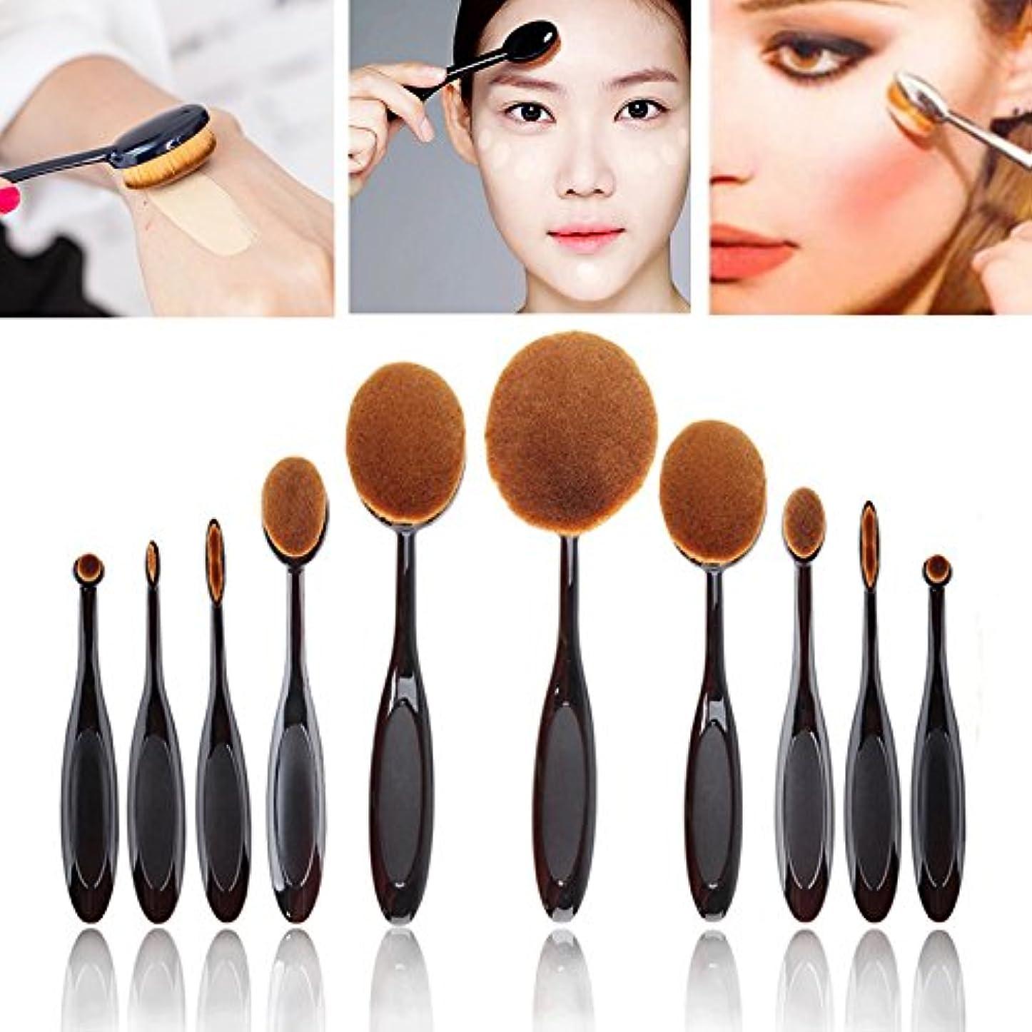親指前兆おびえたNeverlnad Beauty 歯ブラシ型 ファンデーションブラシ 化粧ブラシ メイクブラシ 10本セット