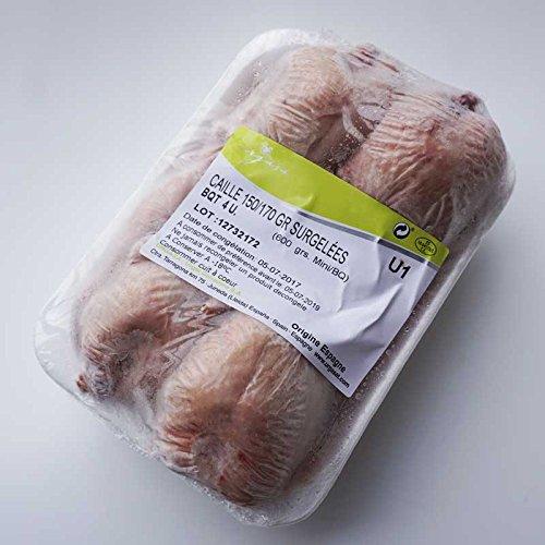 チキン うずら丸鳥 4羽入り600g(冷凍) スペイン産カイユ 冷凍