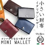 [Dom Teporna Italy] 小さい財布 本革 イタリアンレザー コンパクトな三つ折り ミニ財布 小銭入れあり メンズ レディース 全6色