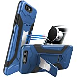 Newseego Huawei P10 ケース, [ 2 in 1 ]ソフトTPU +ハードPC耐スクラッチ性&衝撃吸収 耐衝撃 カバー スタンド機能 クリエイティブデザインフルボディ 内蔵のマグネット車載ホルダー対応-ブルー