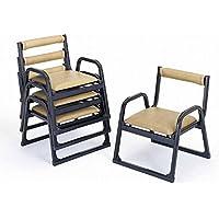 【アルミ製】 本堂椅子 【肘付き?背付きタイプ 小寸】5脚セット