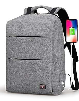 ラップトップバックパック リュック メンズ 耐衝撃 15.6インチPCバッグ  USB ポート搭載ビジネスリュック 撥水 大容量 リュックサック 通勤 通学 リュック 男女兼用  ビジネスマン 大学生 高校生