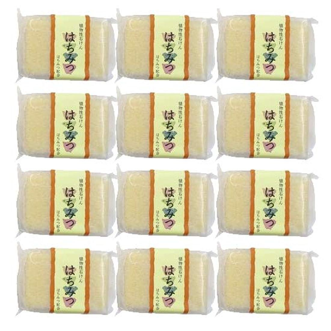 薬ボス意味する植物性ソープ 自然石けん はちみつ 80g ×12個