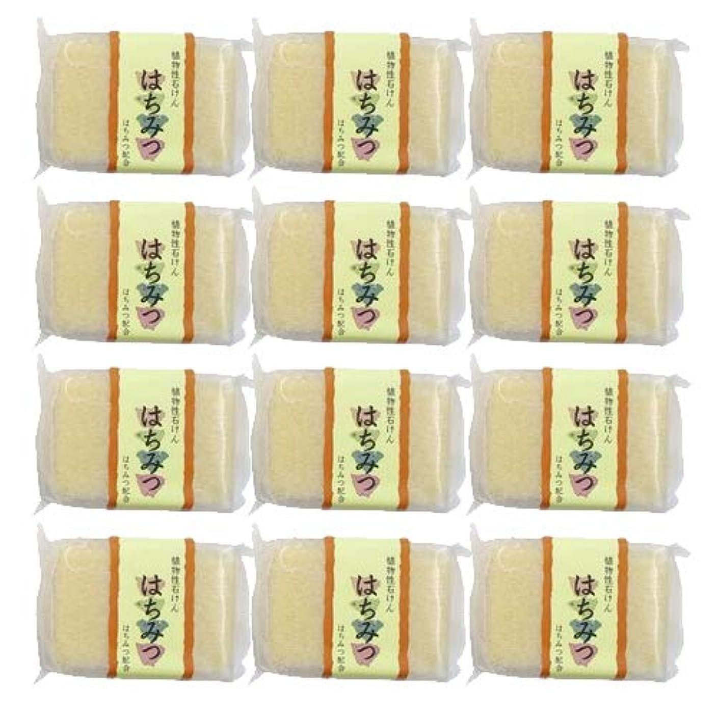 くしゃみ期間誰が植物性ソープ 自然石けん はちみつ 80g ×12個