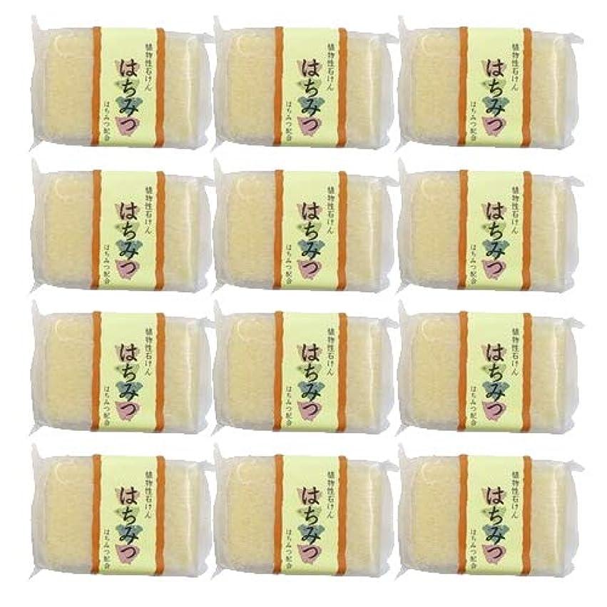割合着替える施し植物性ソープ 自然石けん はちみつ 80g ×12個