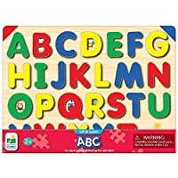 The Learning Journey Lift & Learn ABC Puzzle - Pictures Underneath Each Piece - Alphabet and Phonics Learning Toy [並行輸入品]
