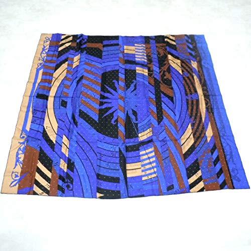 【中古】エルメス スカーフ カレ140 ペルフォレ ツイル・プリュム 新たなる占星術 パンチングドット ブルー系 シルク100% [hs]