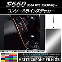 AP コンソールラインステッカー マットクローム調 ホンダ S660 JW5 2015年04月~ オレンジ AP-MTCR2073-OR 入数:1セット(2枚)