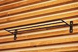 棚 にもなる便利な アイアン タオルハンガー タオル掛け や タオル置きにも ( ネジ 4本 付き ) ( 30cm )