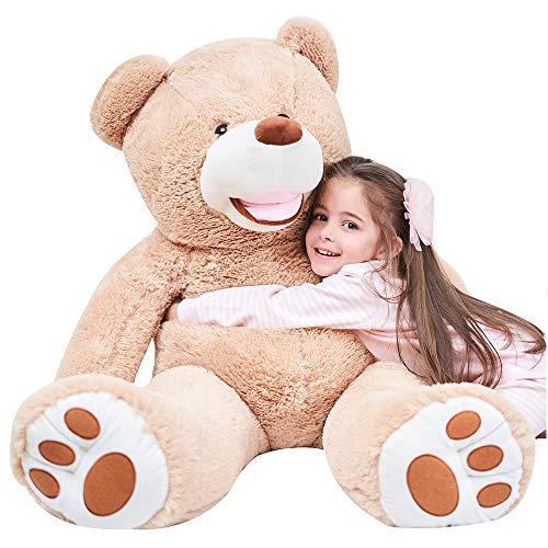 IKASA 130cm ぬいぐるみ 特大 クマ くま テディベア クリスマス 大きい 動物 ぬいぐるみ 抱き枕 キャラクター 人気 お誕生日プレゼント インテリア 熊縫い包み 置物 店飾り ビッグサイズ 130CM