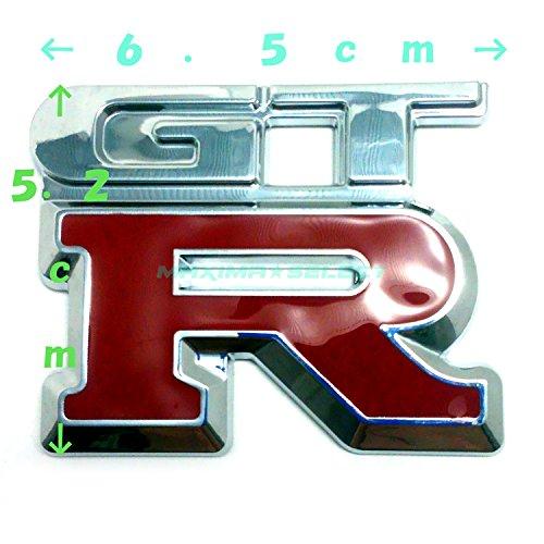 (maxima★select) GT-R GTR エンブレム メッキ 汎用 装飾 レクサス トヨタ ダイハツ ホンダ 日産 マツダ スズキ などに