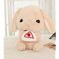 HuaQingPiJu-JP キッズクリエイティブな耐久性のあるおもちゃソフトぬいぐるみロープ耳大きな頭のウサギケーキ動物のおもちゃの人形ピローベビードールおもちゃミニドール女の子と男の子のための子供のためのホットギフト(ブラウン)