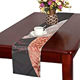 GGSXD テーブルランナー 優雅なスフィンクス猫 クロス 食卓カバー 麻綿製 欧米 おしゃれ 16 Inch X 72 Inch (40cm X 182cm) キッチン ダイニング ホーム デコレーション モダン リビング 洗える