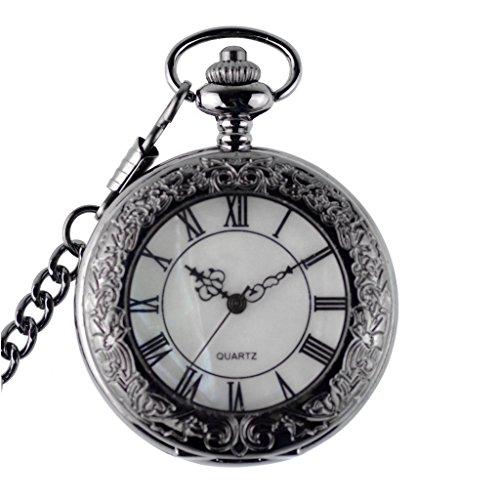 [해외]WOLFTEETH 회중 시계 포켓 시계 골동품 석영 체인 포함 심플 시계 3074/WOLFTEETH Pocket watch Pocket watch Simple watch with antique quartz chain 3074