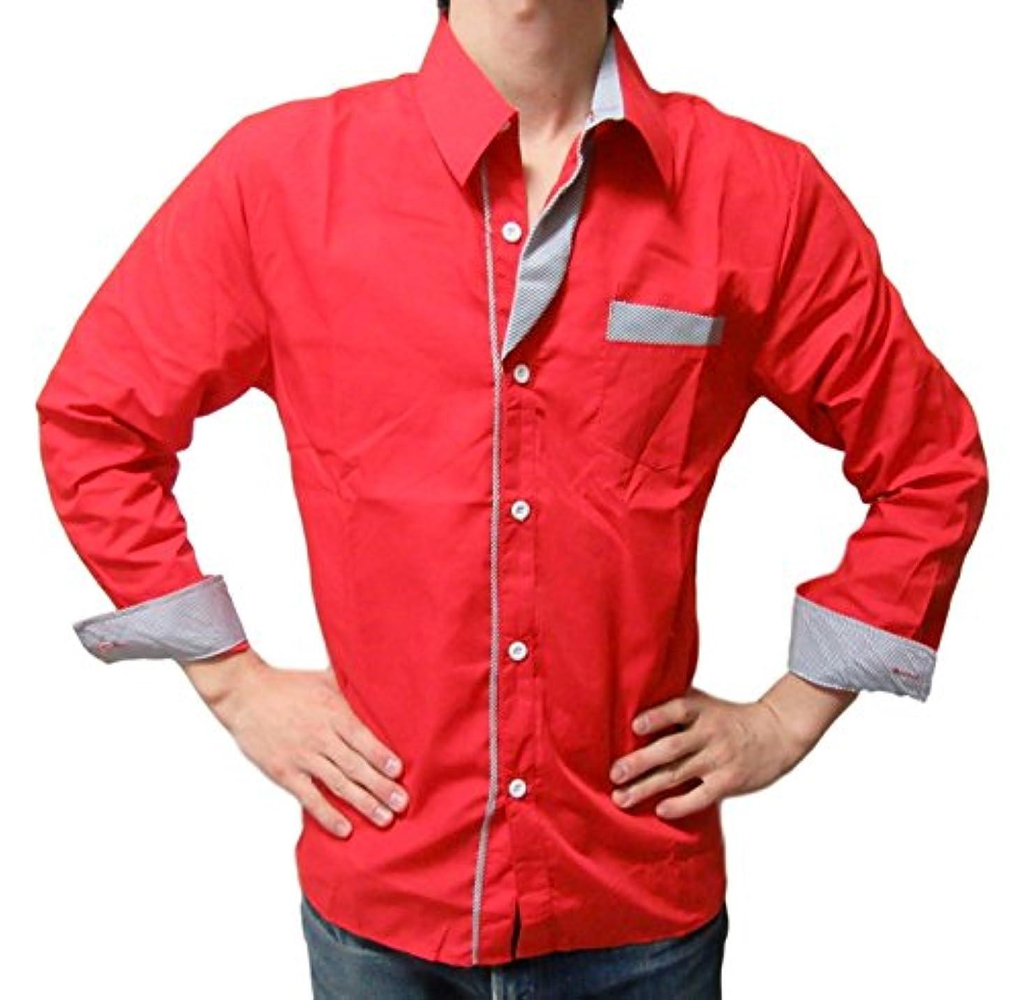 一致するリングレット禁じるメンズ Yシャツ ワイ シャツ ドレスシャツ カジュアル 襟付き 長袖 おしゃれ 男性 ストライプ