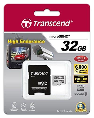 Transcend 高耐久 microSDHCカード MLCフラッシュ搭載 ( ドライブレコーダー向けメモリ )32GB Class10 2年保証TS32GUSDHC10V