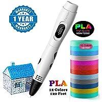 子供のための1.75mm PLAが付いている3D筆ペン、1.75mm ABS/PLA 3Dの印刷材料と互換性がある大人の初心者の子供の設計のためのDIYのギフト。