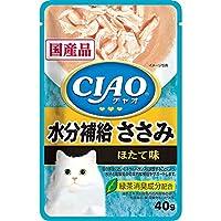 チャオ パウチ 水分補給 ささみ ほたて味 40g×16コ