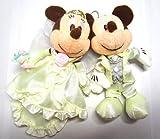 【ペアぬいぐるみバッジ】ウェディングバージョン ミッキーマウス&ミニーマウス 結婚祝い ディズニーリゾート限定