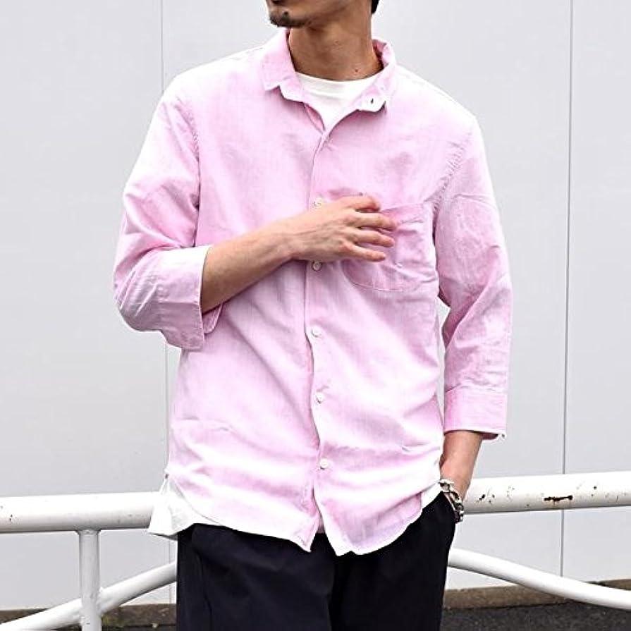 ただロッカー意味のあるシップス(メンズ)(SHIPS) SU: 【COOL MAX】リネンシャツ ワイヤー 7スリーブ【ピンク/MEDIUM】
