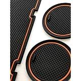 スバルBRZ/トヨタ86用 ラバーマット 専用設計 キズ防止 すべり止め ドリンクホルダー コンソール ドアポケット ドレスアップ インテリア アクセサリー 8Pcs(オレンジ)